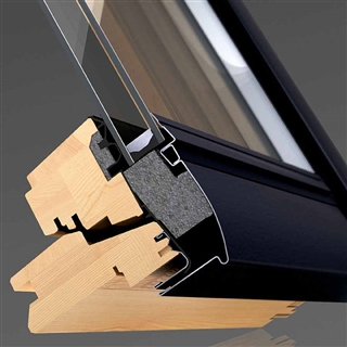 VELUX 550mm x 780mm Integra Solar Pine Finish Centre Pivot Roof Window --66 Pane  GGL CK02 306630