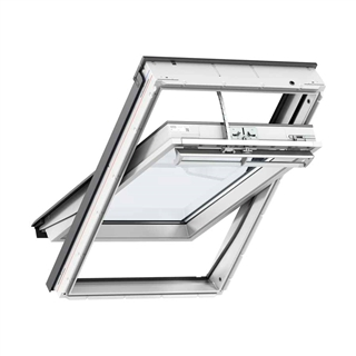 VELUX 1140mm x 1180mm Integra Solar White Poly Finish Centre Pivot Roof Window --60 Pane  GGU SK06 0060R30