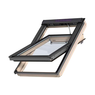 VELUX 780mm x 980mm Integra Electric Pine Finish Centre Pivot Roof Window --70 Pane  GGL MK04 307021U