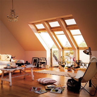 VELUX 1580mm x 2450mm Twin R/H Roof Terrace with Tile Flashing  GEL M08 SE0W223