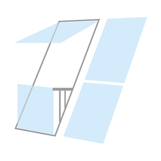 VELUX 1980mm x 2520mm Double Roof Balcony Window with Slate Flashing  GDL P19 SK0L221