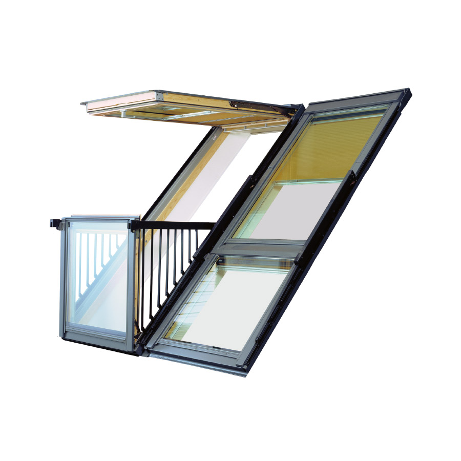 Velux gdl sk19 sk0l222 cabrio balcony system for 8mm slate -.