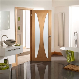 Oak Verona Obscure Glass Door 2040mm x 826mm x 40mm FSC