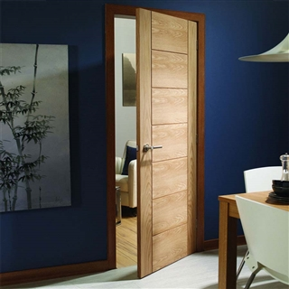 Oak Palermo Fire Door 2040mm x 826mm x 44mm FSC