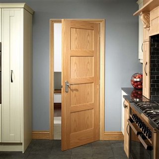 Oak Shaker 4 Panel Door 2040mm x 726mm x 40mm FSC