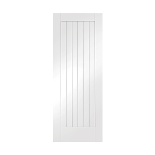 White Primed Suffolk Door 2040mm x 826mm x 40mm FSC