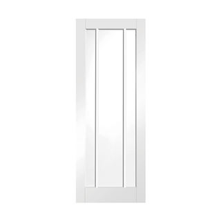 White Primed Worcester Clear Glass Door 2040mm x 726mm x 40mm FSC