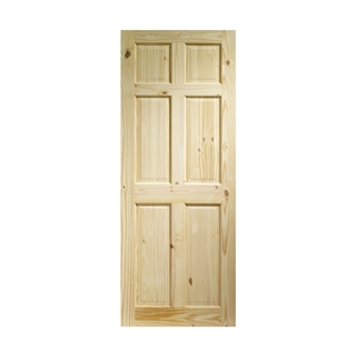 Knotty Pine Colonial 6 Panel Door 2040mm x 826mm x 35mm FSC