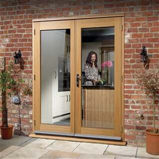 Pre-Finished Oak 6' La Porte French Door Set (Chrome) 1790mm x 2074mm FSC