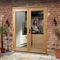 Pre-Finished Oak 6' La Porte French Door Set (Chrome) 1790mm x 2074mm FSC image 0