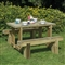 Refectory Table 1.2m and 2 Benches FSC image 1