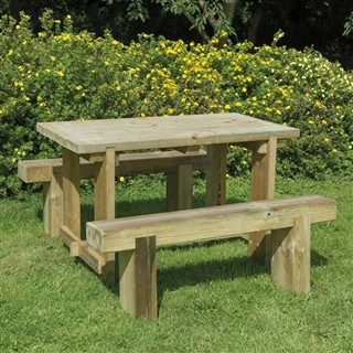 Refectory Table 1.2m and 2 Benches FSC