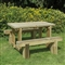 Refectory Table 1.2m and 2 Benches FSC image 0