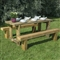 Refectory Table 1.8m and 2 Benches FSC image 1