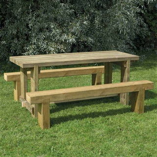 Refectory Table 1.8m and 2 Benches FSC