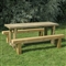Refectory Table 1.8m and 2 Benches FSC image 0