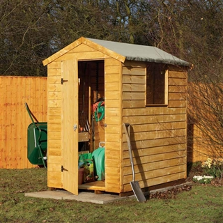 Premium Overlap Apex Shed 6' x 4' with Assembly Service FSC