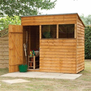 Premium Overlap Pent Shed 7' x 5' with Assembly Service FSC
