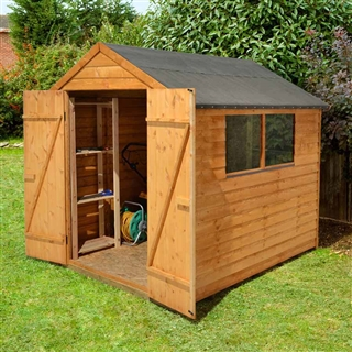 Overlap Apex Shed Double Door 8' x 6' with Assembly Service FSC