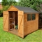 Overlap Apex Shed Double Door 8' x 6' with Assembly Service FSC image 0