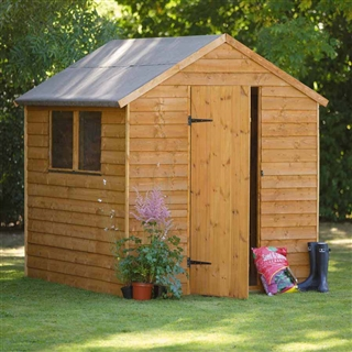 Premium Overlap Apex Shed 8' x 6' with Assembly Service FSC
