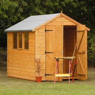Heavy Duty Shiplap Apex Shed 8' x 6' with Assembly Service FSC