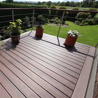 25mm x 140mm Trex Composite Decking Grooved Board 3.66m Lava Rock