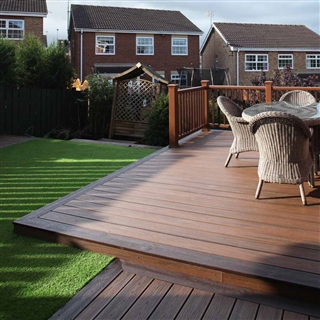 25mm x 140mm Trex Composite Decking Grooved Board 3.66m Spiced Rum