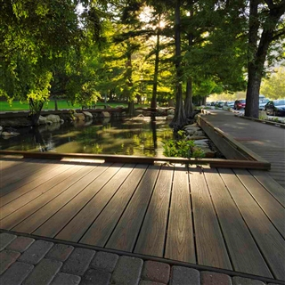 25mm x 140mm Trex Composite Decking Square Board 3.66m Spiced Rum