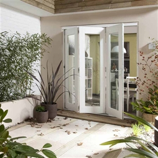 Wellington White Fully Finished Reversible Folding Door [3 Door 3L/3R] 1805mm x 2105mm