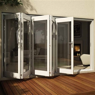Wellington White Fully Finished Reversible Folding Door [5 Door 1L4R/4L1R] 3605mm x 2105mm