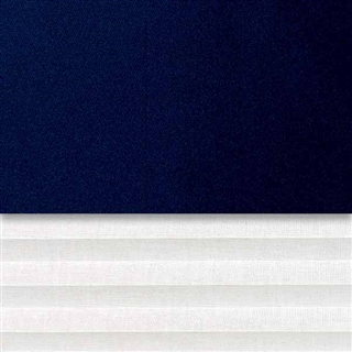 VELUX 1340mm x 1400mm Duo Pleated and Blackout Blind Blue/White  DFD UK08 0001S