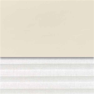 VELUX 1340mm x 980mm Duo Pleated and Blackout Blind Beige/White  DFD UK04 0002S
