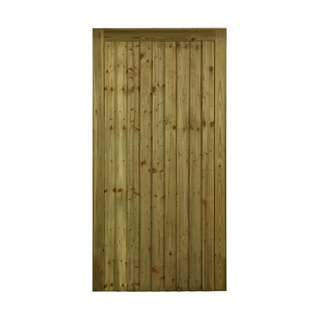 "Country Feather Edge Pedestrian Side Gate 3' x 5'8"" (90cm x 178cm) PEFC"