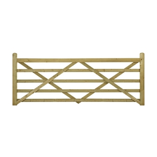 "Highgrove Universal 5 Bar Gate 12' x 3'7"" (366cm x 109cm) Softwood PEFC"