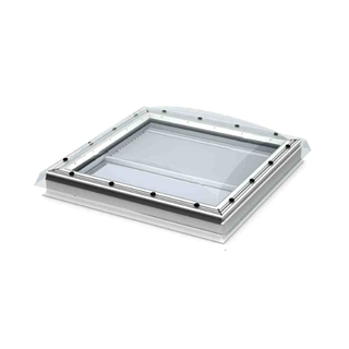 VELUX 1000mm x 1000mm Clear Polycarbonate Flat Roof Window without Ventilation  CFP 100100 S00G
