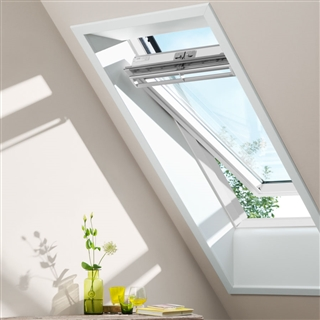 VELUX 550mm x 700mm White Painted Finish Centre Pivot Roof Window  GGL CK01 2070