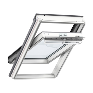 VELUX 660mm x 980mm White Painted Finish Centre Pivot Roof Window  GGL FK04 2070