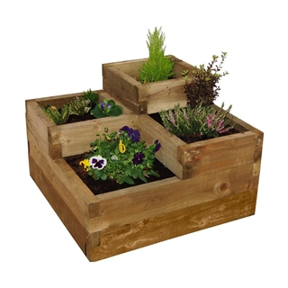 Caledonian Tiered Raised Bed 90cm x 90cm FSC