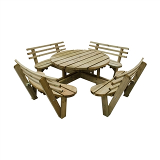 Circular Picnic Table with Seat Backs FSC