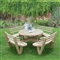 Circular Picnic Table with Seat Backs FSC image 0