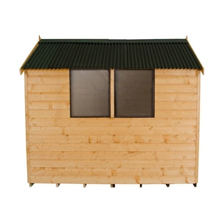 Apex Shiplap Shed 8' x 6' with Onduline Roof and Assembly Service FSC
