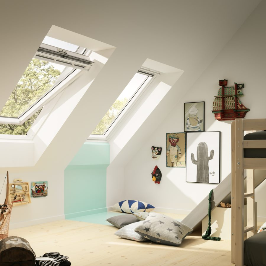Exceptional Awesome Velux Mm X Mm White Painted Finish Centre Pivot Roof Window Pane  Ggl Ck With Store Ggl Mk04