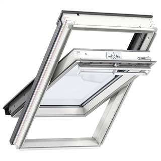 VELUX 1340mm x 980mm White Painted Finish Top Hung Roof Window --70Q Pane  GGL UK04 2070Q