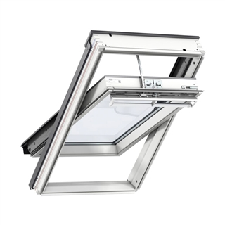 VELUX 940mm x 1600mm Integra Electric White Painted Finish Centre Pivot Roof Window --70 Pane  GGL PK10 207021U