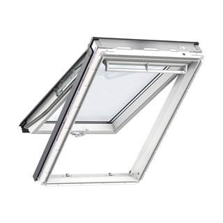 VELUX 550mm x 980mm White Painted Finish Top Hung Roof Window --60 Pane  GPL CK04 2060R