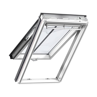 VELUX 780mm x 980mm White Painted Finish Top Hung Roof Window --66 Pane  GPL MK04 2066