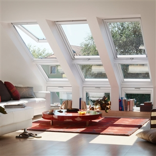 VELUX 780mm x 1400mm White Painted Finish Top Hung Roof Window --66 Pane  GPL MK08 2066
