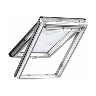 VELUX 940mm x 1400mm White Painted Finish Top Hung Roof Window --66 Pane  GPL PK08 2066