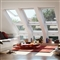 VELUX 1340mm x 980mm White Painted Finish Top Hung Roof Window --66 Pane  GPL UK04 2066 image 1